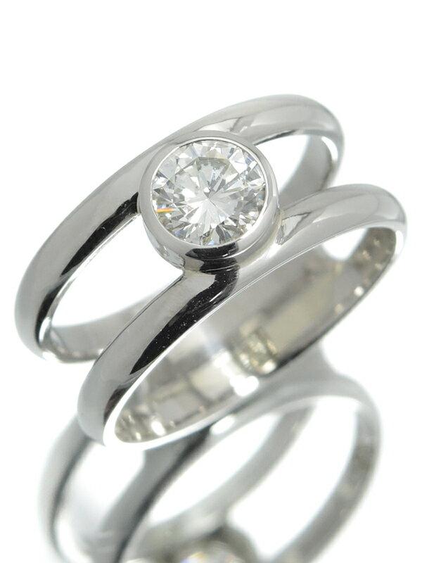 【ソーティング】【仕上済】セレクトジュエリー『PT900リング 1Pダイヤモンド0.580ct/H/VS-1/GOOD』11号 1週間保証【中古】