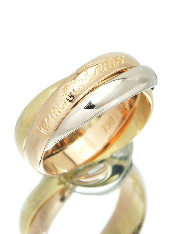 【Cartier】【スリーカラーゴールド】カルティエ『トリニティ リング』12号 1週間保証【中古】