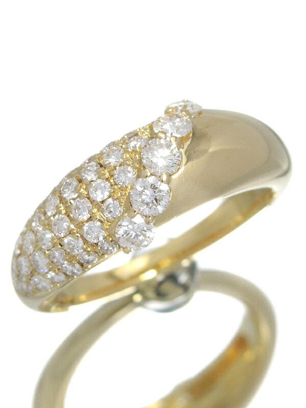 【星の砂】ホシノスナ『K18YGリング ダイヤモンド0.86ct』12.5号 1週間保証【中古】