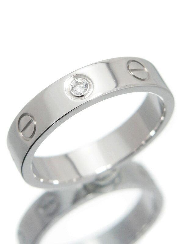 【Cartier】【仕上済】カルティエ『ミニラブリング 1Pダイヤモンド』9号 1週間保証【中古】