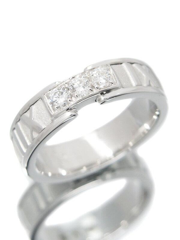 【TIFFANY&Co.】ティファニー『アトラス リング 3Pダイヤモンド』9号 1週間保証【中古】