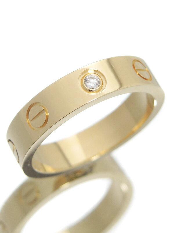 【Cartier】【仕上済】カルティエ『ミニラブリング 1Pダイヤモンド』7号 1週間保証【中古】
