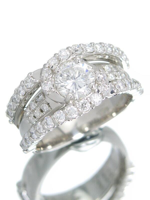【ソーティング】【仕上済】セレクトジュエリー『PT900リング ダイヤモンド1.003ct/F/SI-2/FAIR 1.00ct』12.5号 1週間保証【中古】