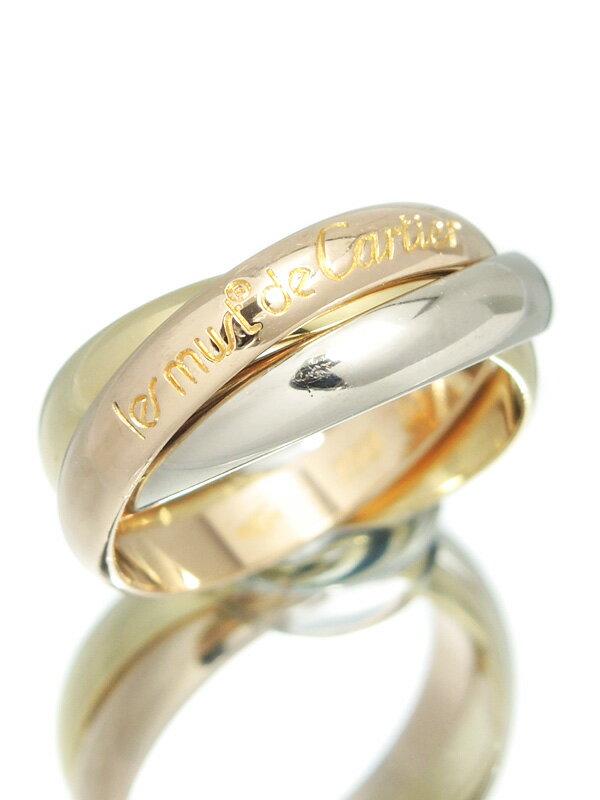 【Cartier】【スリーカラーゴールド】カルティエ『トリニティ リング』11号 1週間保証【中古】