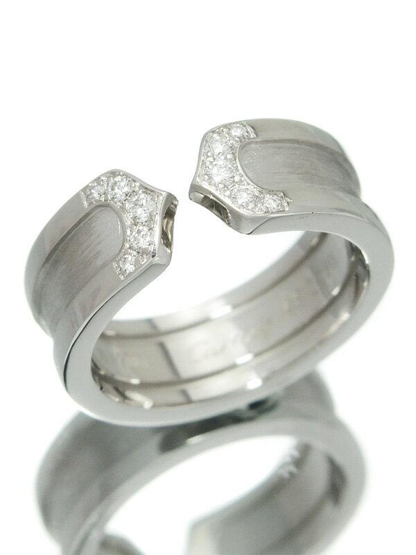 【Cartier】【仕上済】カルティエ『ロゴ ドゥーブルC C2リング 10Pダイヤモンド』9号 1週間保証【中古】