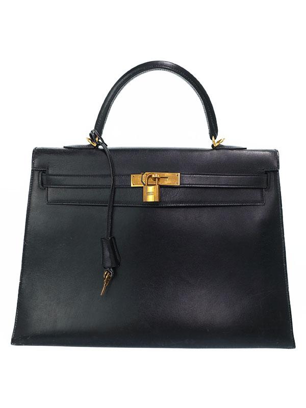 【HERMES】【ゴールド金具】エルメス『ケリー35 外縫い』G刻印 1977年製 レディース ハンドバッグ 1週間保証【中古】