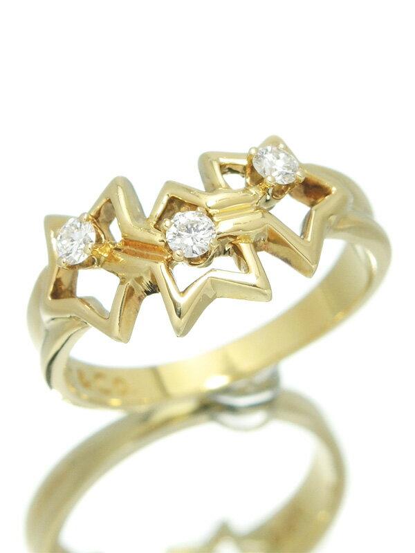 【TIFFANY&Co.】【星】ティファニー『トリプルスター リング 3Pダイヤモンド』12号 1週間保証【中古】