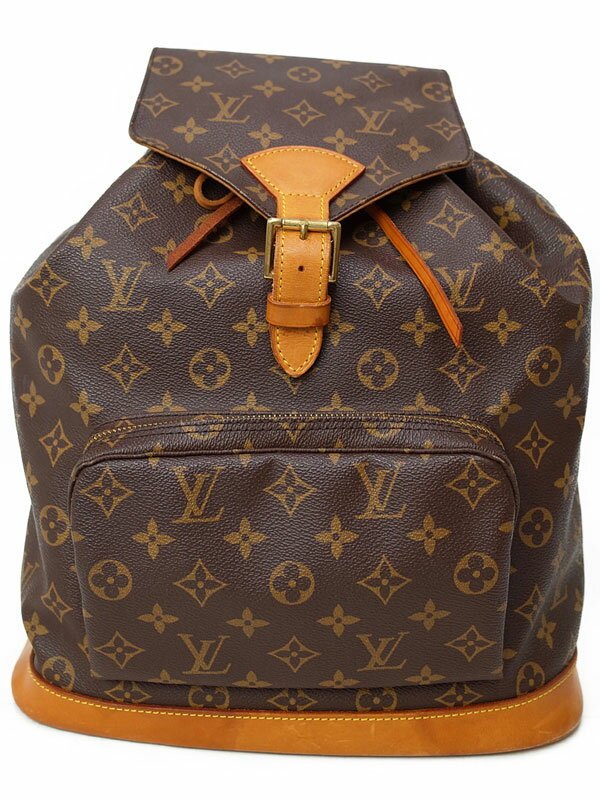 【LOUIS VUITTON】【リュックサック】【made in U.S.A】ルイヴィトン『モノグラム モンスリ』M51135 ユニセックス バックパック 1週間保証【中古】