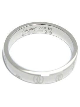【Cartier】【仕上済】カルティエ『ハッピーバースデー ロゴ リング』18.5号 1週間保証【中古】b01j/h02SA