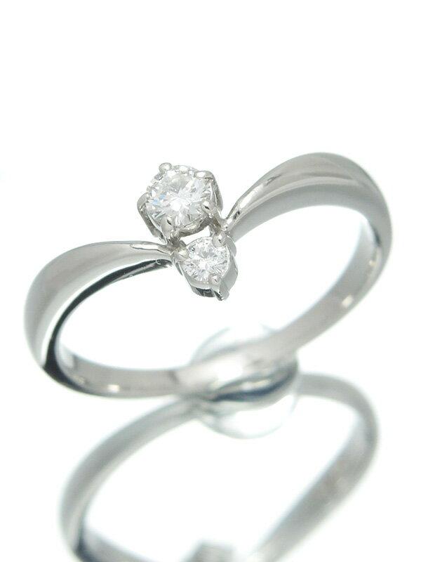 【MIKIMOTO】【仕上済】ミキモト『PT950リング ダイヤモンド0.13ct』13号 1週間保証【中古】