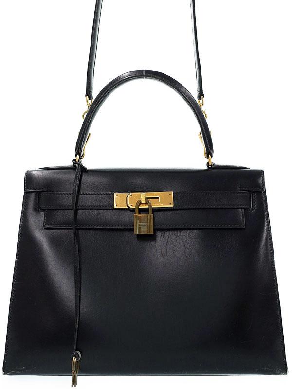 【HERMES】【ゴールド金具】エルメス『ケリー28 外縫い』R刻印 1988年製 レディース 2WAYバッグ 1週間保証【中古】