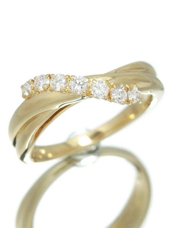 【POLA】【仕上済】ポーラ『K18YGリング ダイヤモンド0.29ct』15号 1週間保証【中古】