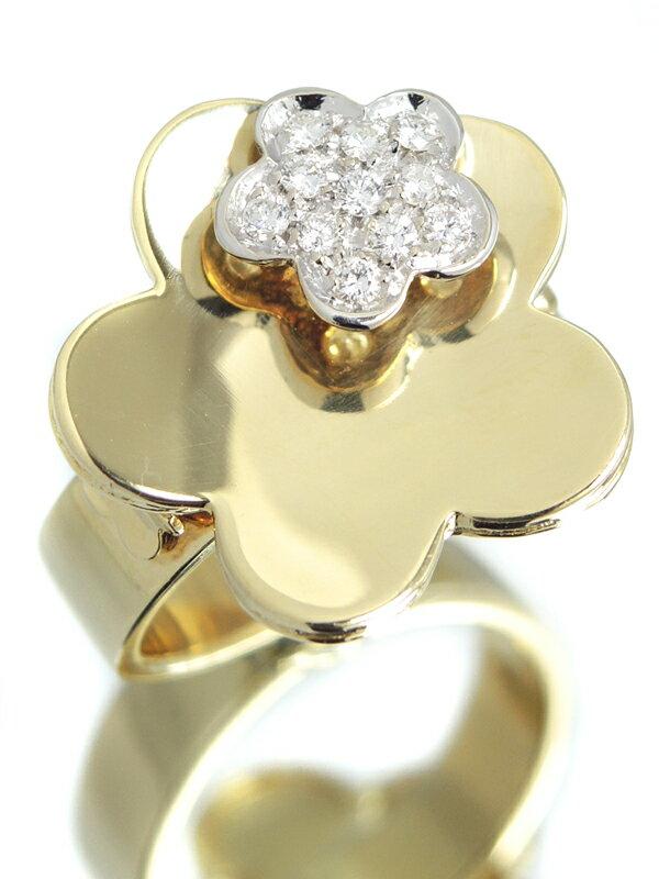 【Ponte Vecchio】ポンテヴェキオ『K18YGリング ダイヤモンド0.18ct フラワーモチーフ』12号 1週間保証【中古】
