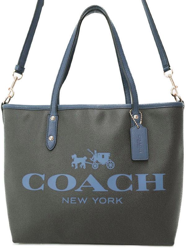 【COACH】コーチ『スモール メトロ トート イン コーテッド キャンバス』F36588 レディース 2WAYバッグ 1週間保証【中古】