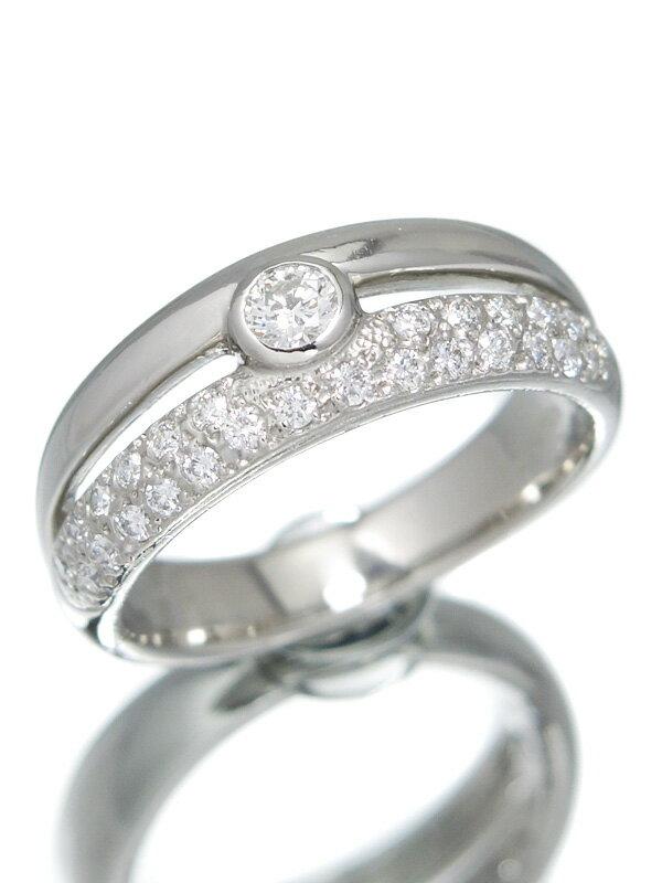 【MIKIMOTO】ミキモト『PT950リング ダイヤモンド0.32ct』12号 1週間保証【中古】