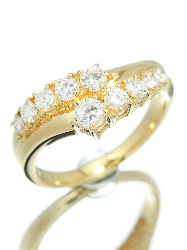 【TASAKI】タサキ『K18YGリング ダイヤモンド0.69ct』12.5号 1週間保証【中古】