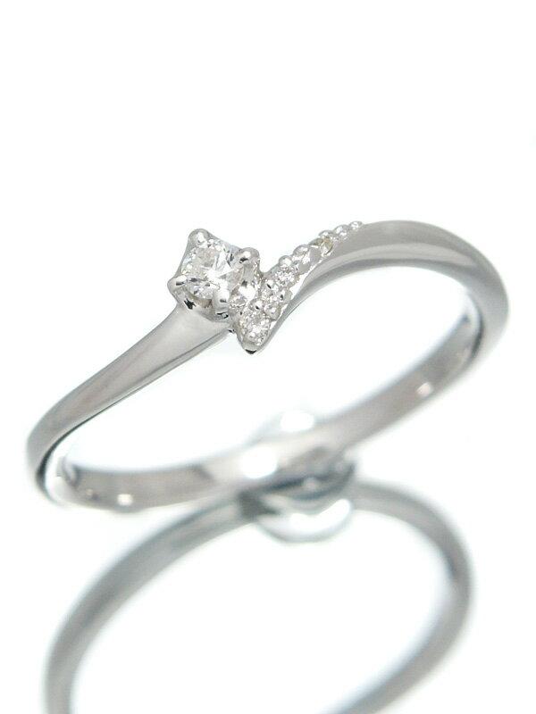 【4℃】【仕上済】ヨンドシー『K10WGリング ダイヤモンド』12号 1週間保証【中古】