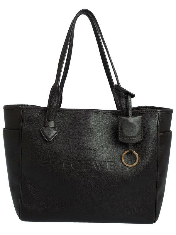 【LOEWE】ロエベ『ヘリテージ スモール トート』377.79.751 レディース トートバッグ 1週間保証【中古】