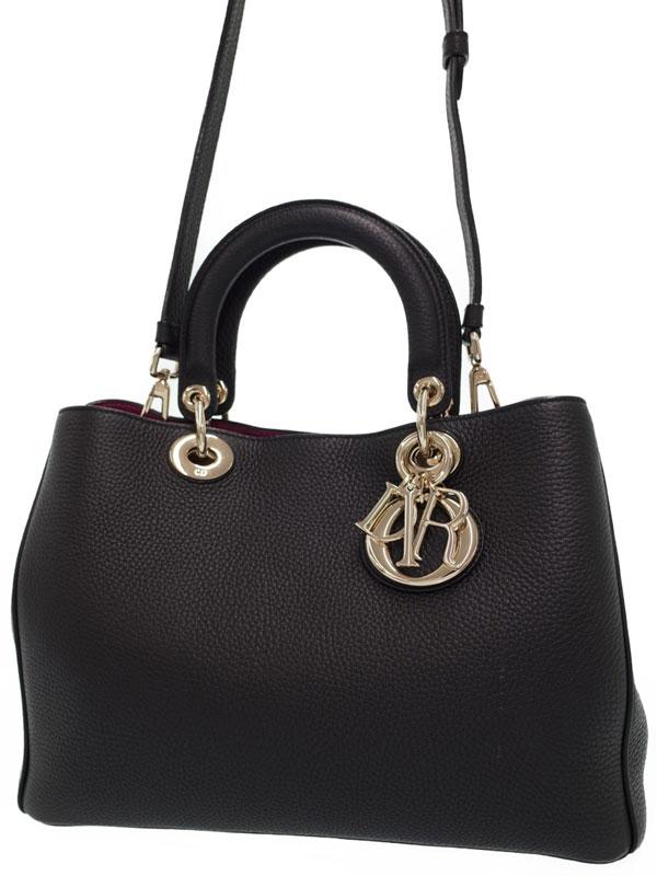 【Christian Dior】【ポーチ付】クリスチャンディオール『ディオリッシモ 2WAYハンドバッグ』レディース 2WAYバッグ 1週間保証【中古】