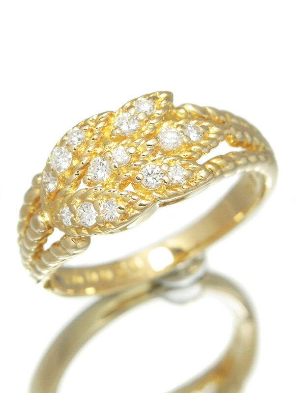 【POLA】ポーラ『K18YGリング ダイヤモンド0.20ct』11.5号 1週間保証【中古】