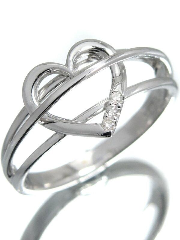 【Samantha Tiara】サマンサティアラ『K18WGリング ダイヤモンド0.03ct ハートモチーフ』13号 1週間保証【中古】