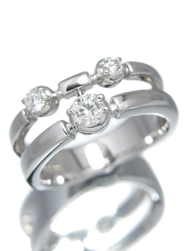 【TASAKI】タサキ『K18WGリング 3Pダイヤモンド0.36ct』11.5号 1週間保証【中古】