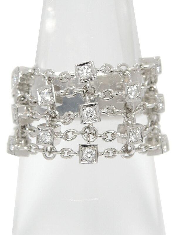 【MIKIMOTO】【仕上済】ミキモト『K18WGリング ダイヤモンド0.15ct』13号 1週間保証【中古】