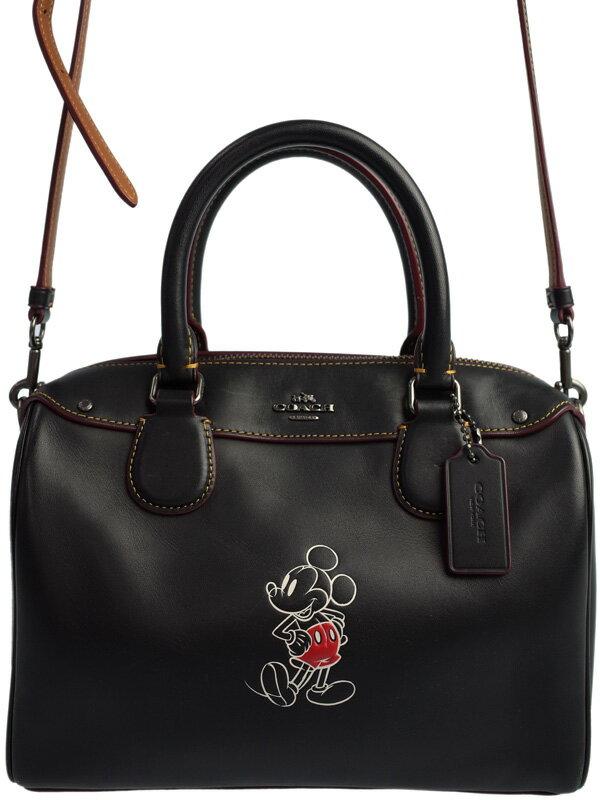 【COACH】【Disney】コーチ『ミッキーマウス レザー ベネット ミニ サッチェル』F59371 レディース 2WAYバッグ 1週間保証【中古】