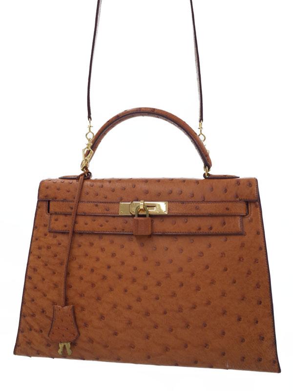 【HERMES】【ゴールド金具】エルメス『ケリー32 外縫い』T刻印 1990年製 レディース 2WAYバッグ 1週間保証【中古】