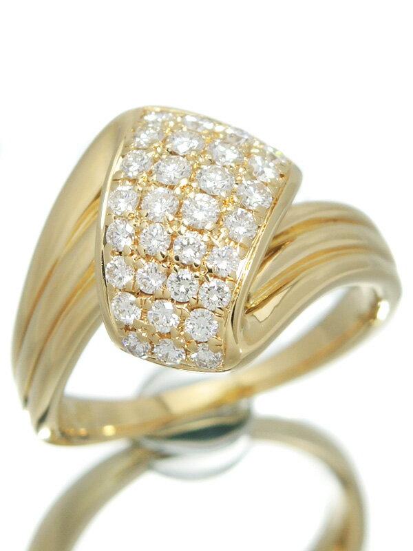 【POLA】【鑑別書】【仕上済】ポーラ『K18YGリング ダイヤモンド0.51ct』13号 1週間保証【中古】