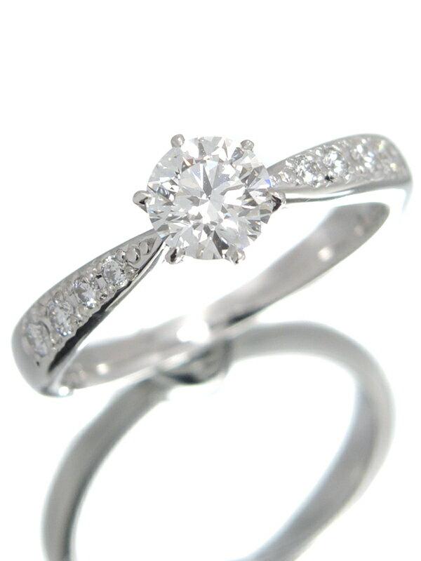 【TASAKI】【ソーティング】【仕上済】タサキ『PT1000リング ダイヤモンド0.513ct/G/VVS-1/VERY GOOD 0.10ct』9.5号 1週間保証【中古】