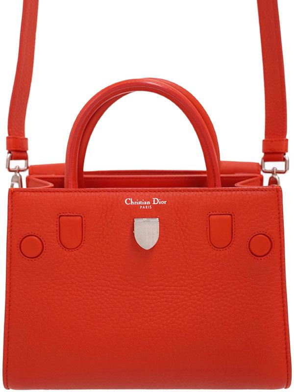 【Christian Dior】クリスチャンディオール『トリヨンレザー DIOREVER ミニバッグ』M700 3PTLM-057U レディース 2WAYバッグ 1週間保証【中古】