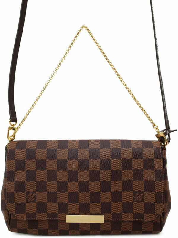 【LOUIS VUITTON】【made in U.S.A】ルイヴィトン『ダミエ フェイボリットMM』N41129 レディース 2WAYバッグ 1週間保証【中古】