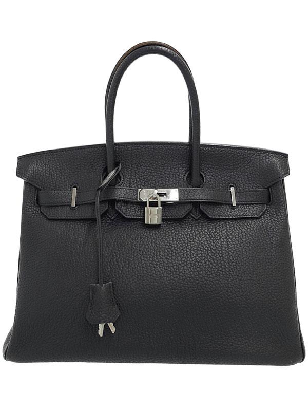 【HERMES】【シルバー金具】エルメス『バーキン35』K刻印 2007年製 レディース ハンドバッグ 1週間保証【中古】