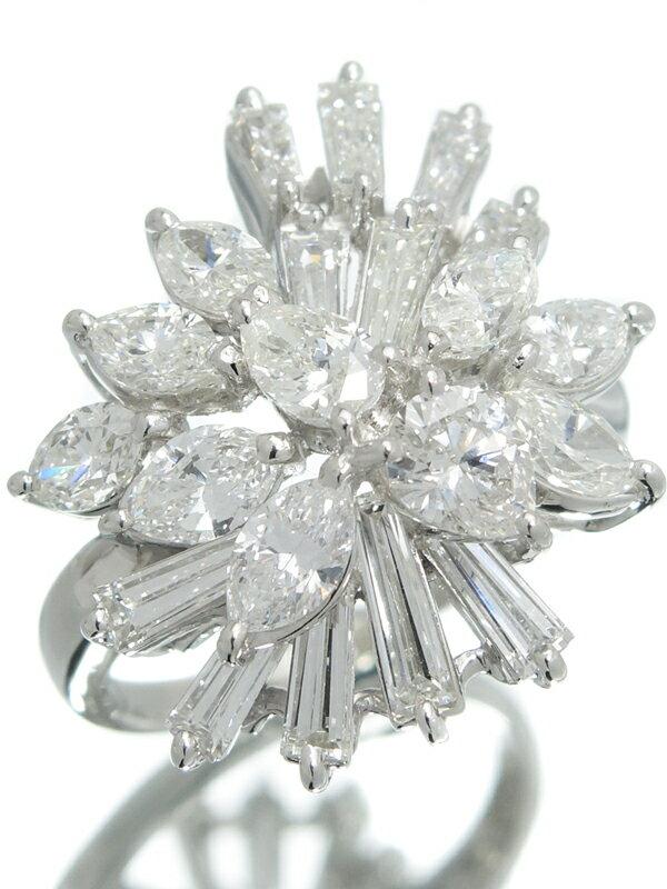 【TASAKI】【仕上済】タサキ『PT900リング ダイヤモンド3.81ct』15号 1週間保証【中古】