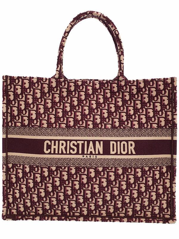 【Christian Dior】クリスチャンディオール『刺繍入り キャンバス DIORBOOK トートバッグ』M1286ZRIW レディース 1週間保証【中古】