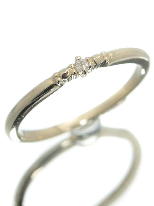 【nojess】【ピンキーリング】ノジェス『K10YGリング ダイヤモンド0.01ct』3号 1週間保証【中古】jps】