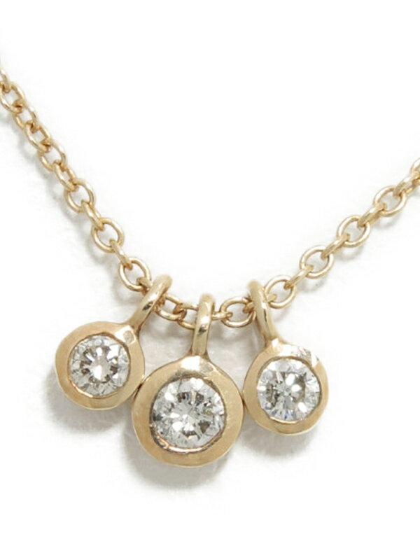 セレクトジュエリー『K10YGネックレス ダイヤモンド0.08ct』1週間保証【中古】jps】