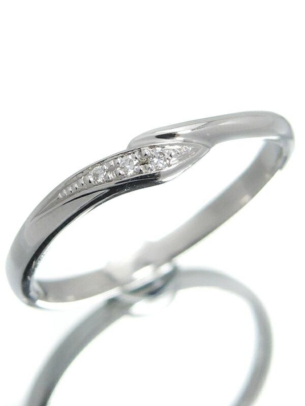 【StarJewelry】【WAVE】スタージュエリー『K10WGリング ダイヤモンド0.01ct ウェーブ』10号 1週間保証【中古】jps】