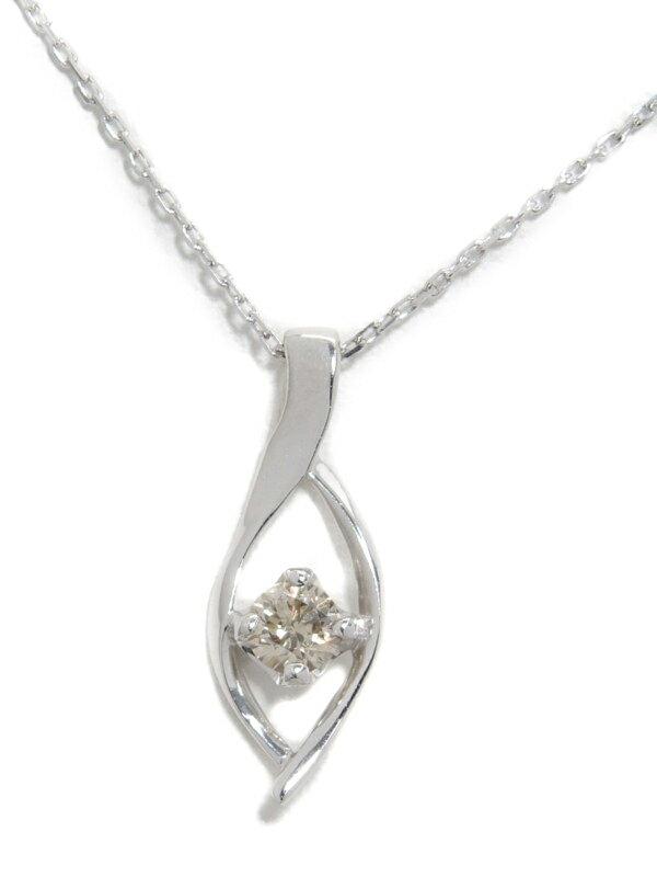 セレクトジュエリー『K10WGネックレス ダイヤモンド0.10ct』1週間保証【中古】jps】