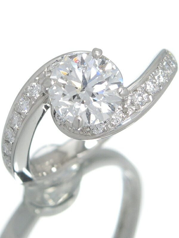 【TASAKI】【鑑定書】【仕上済】タサキ『PT900リング ダイヤモンド1.37ct/D/IF/EXCELLENT 3EX 0.26ct』11.5号 1週間保証【中古】