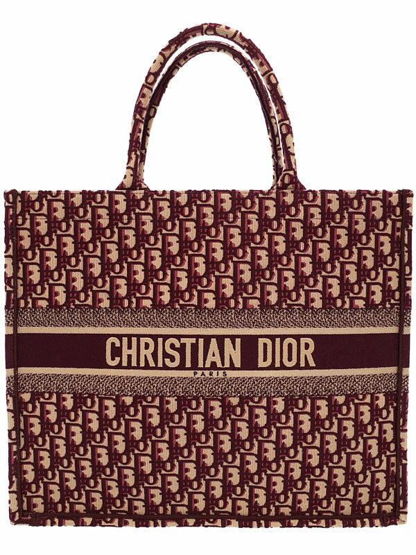 【Christian Dior】クリスチャンディオール『刺繍入り キャンバス DIORBOOK ブックトート』M1286ZRIW レディース トートバッグ 1週間保証【中古】