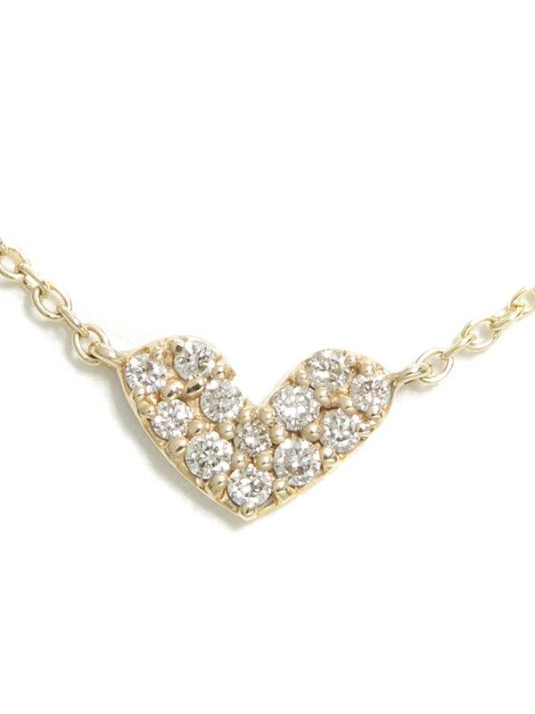 セレクトジュエリー『K10YGネックレス ダイヤモンド ハートモチーフ』1週間保証【中古】jps】