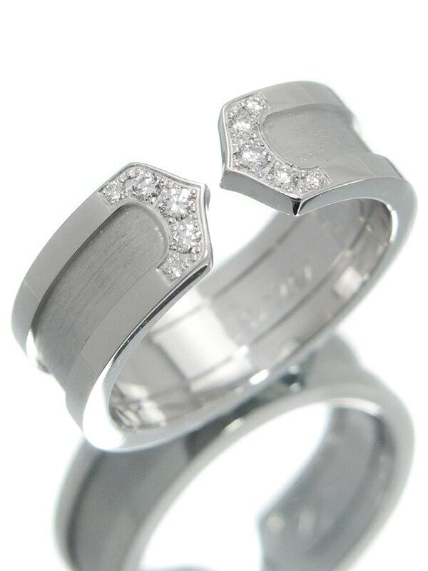 【Cartier】【LOGO】カルティエ『ロゴ ドゥーブルC C2リング 10Pダイヤモンド』13号 1週間保証【中古】