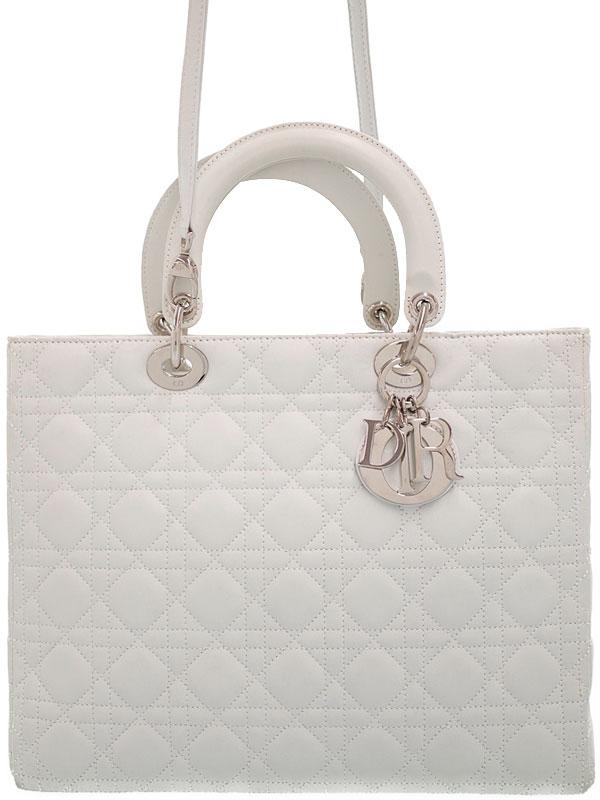 【Christian Dior】【カナージュ】クリスチャンディオール『レディディオール(L)』CAL44561 レディース 2WAYバッグ 1週間保証【中古】