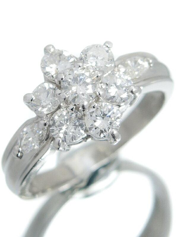 セレクトジュエリー『PT900リング ダイヤモンド1.00ct フラワーモチーフ』9号 1週間保証【中古】