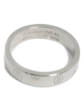 【Cartier】【LOGO】カルティエ『ハッピーバースデー ロゴ リング』9号 1週間保証【中古】b02j/h10A