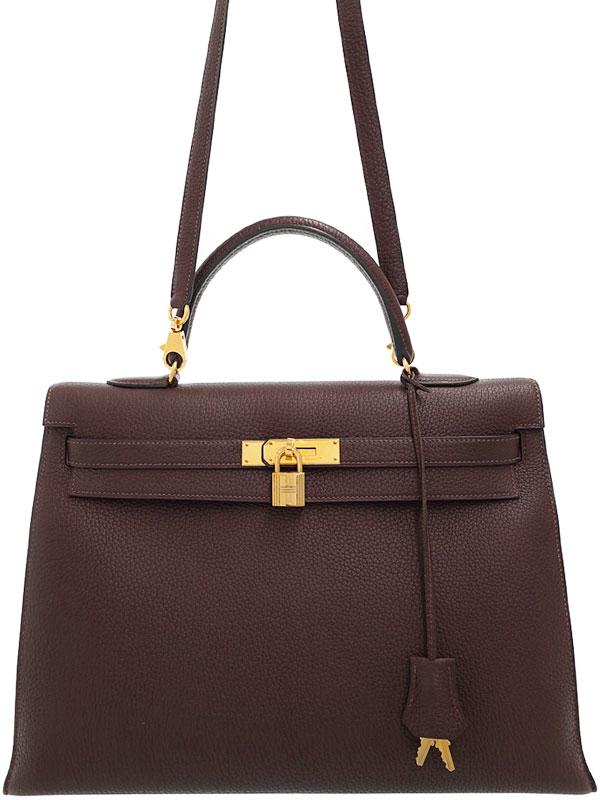 【HERMES】【ゴールド金具】エルメス『ケリー35 外縫い』D刻印 2000年製 レディース 2WAYバッグ 1週間保証【中古】
