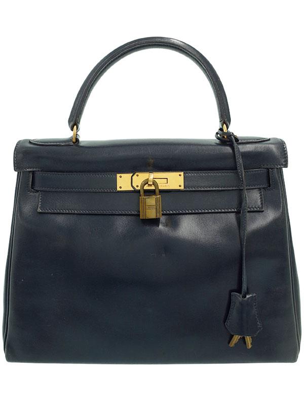 【HERMES】【ゴールド金具】エルメス『ケリー28 内縫い』L刻印 1982年製 レディース ハンドバッグ 1週間保証【中古】