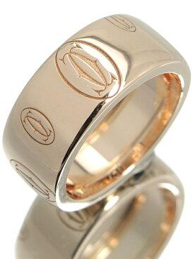 【Cartier】【仕上済】カルティエ『ハッピーバースデー ロゴ リング LM』9号 1週間保証【中古】b02j/h03SA